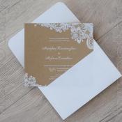 Προσκλητήριο γάμου typostar κωδ. 11070