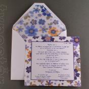 Προσκλητήριο γάμου και βάπτισης μαζί, typostar κωδ. 2060